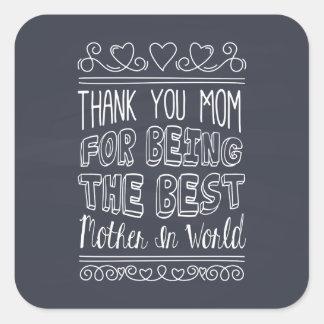 Para a melhor mamã no selo da etiqueta do mundo
