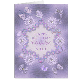 Para a sobrinha, cartão de aniversário sonhador do
