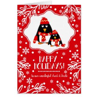 Para a tia e o tio em cartões do Natal