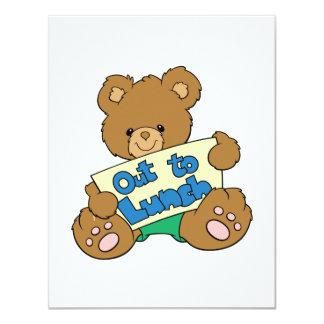 Para almoçar para fora urso de ursinho convite personalizados