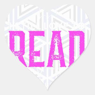 Para amantes de livro adesivo coração
