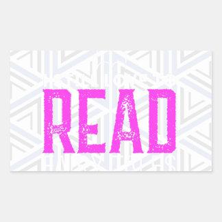 Para amantes de livro adesivo retangular