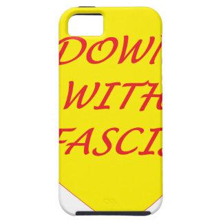Para baixo com fascismo capa tough para iPhone 5