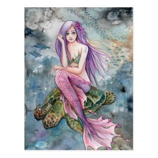 Para baixo em Atlantis - cartão da sereia