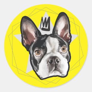 Pára-choque do rei Boston Terrier Adesivo