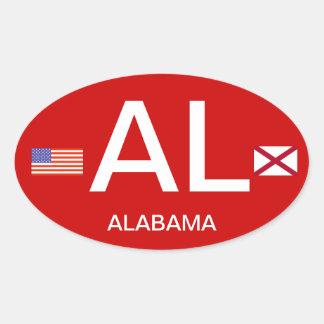 Pára-choque Sticker* do Europeu-estilo de Alabama* Adesivo Oval
