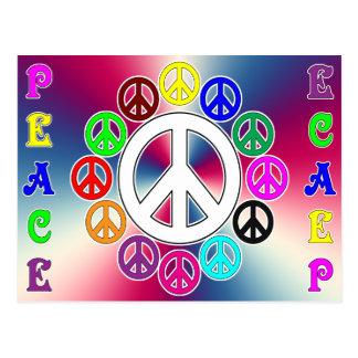 para cima e para baixo o cartão da paz