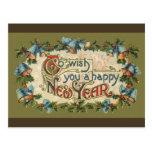 Para desejar-lhe um feliz ano novo cartao postal