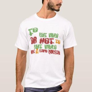 Para editar o vídeo t-shirts