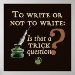 Para escrever ou não escrever posters