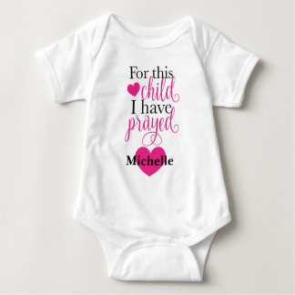 Para esta criança eu Prayed o Bodysuit Body Para Bebê