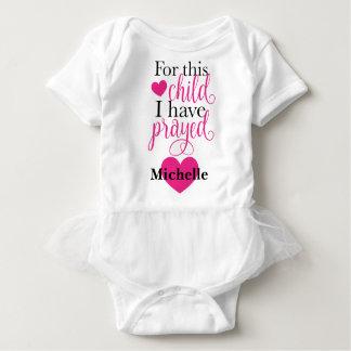 Para esta criança eu Prayed o Bodysuit do tutu Body Para Bebê