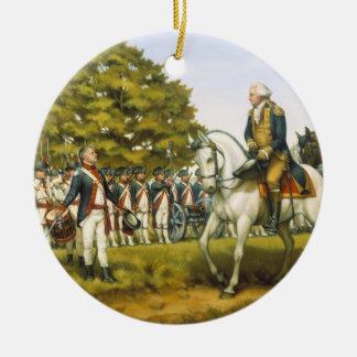 Para executar as leis da união por Donna Neary Ornamento De Cerâmica Redondo