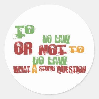 Para fazer a lei adesivos