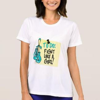 Para fazer a nota - luta como uma menina - PKD T-shirt