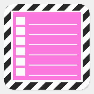 Para fazer etiquetas do planejador da lista
