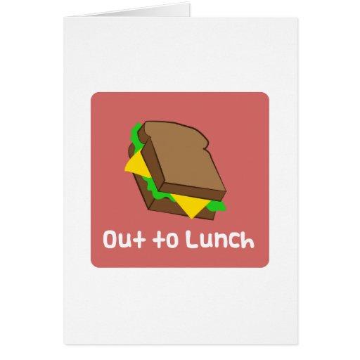 Para fora ao almoço cartão