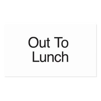 Para fora ao almoço modelo cartões de visitas