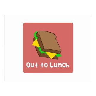 Para fora ao almoço cartão postal