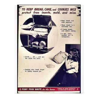 Para manter o pão, o bolo e os biscoitos agradávei modelo de panfleto