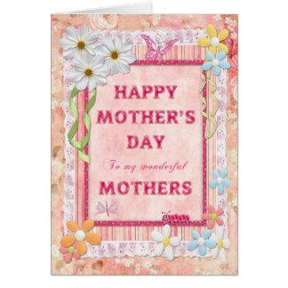 Para meu cartão do dia das mães do artesanato das
