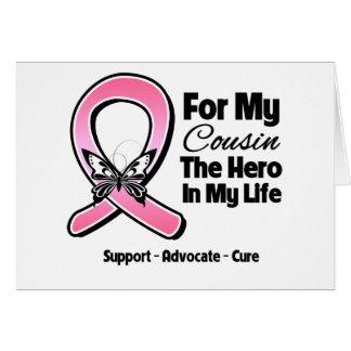 Para meu herói meu cancro da mama do primo cartao