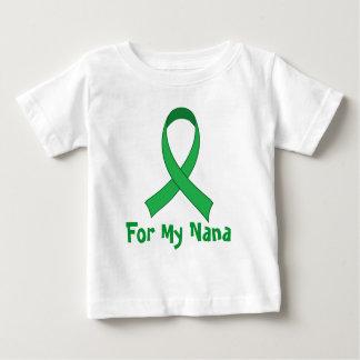 Para meu presente verde da consciência da fita de camiseta para bebê
