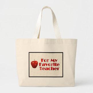 Para meu professor favorito sacola tote jumbo