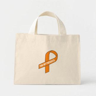 Para meus pacientes (fita alaranjada) bolsas para compras