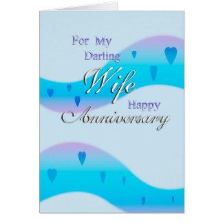 Para minha esposa (aniversário) cartão comemorativo