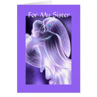 Para minha irmã - cartão do anjo
