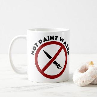 Para não pintar a caneca da água para artistas