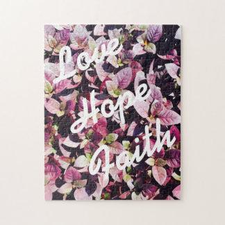 Para o amor - amor, esperança, quebra-cabeça da fé