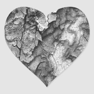 Para o amor da natureza - latido do preto & do adesivo coração