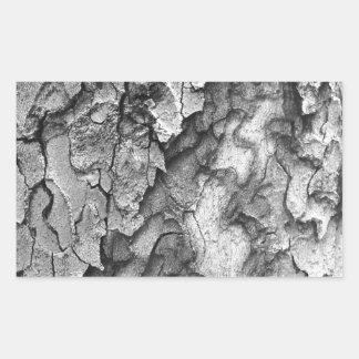 Para o amor da natureza - latido do preto & do adesivo retangular