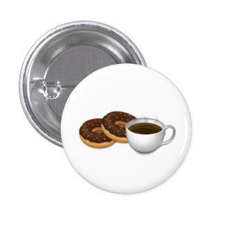 Para o amor das rosquinhas e do café! bóton redondo 2.54cm