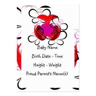 Para o amor do anúncio do nascimento das borboleta cartão de visita grande