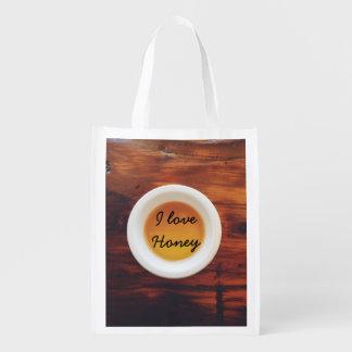 Para o amor do mel sacolas ecológicas