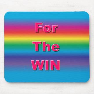 Para o arco-íris Mousepad da vitória