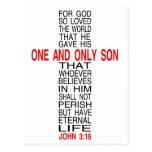 Para o deus amado assim o cartão do mundo cartoes postais