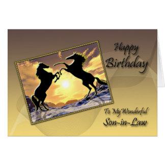 Para o genro, cartão de aniversário com elevação