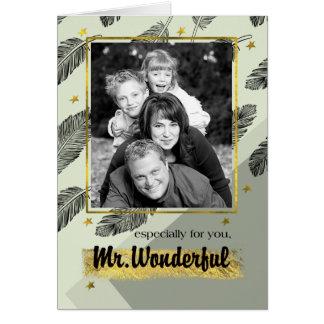 Para o marido em cartões com fotos do costume do