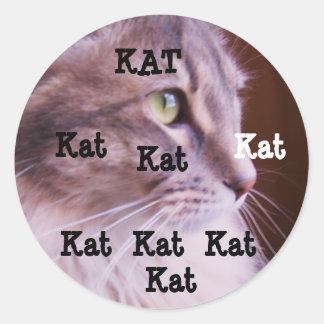 Para o nome KAT. Adesivo