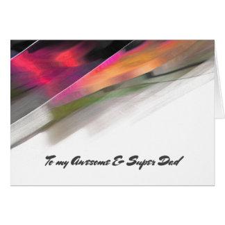Para o pai em cartões feitos sob encomenda do dia