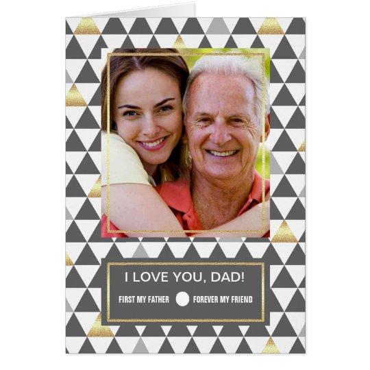 Para o pai no dia dos pais. Cartões com fotos