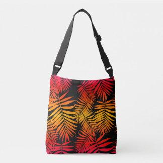 Para o por do sol adolescente da folha da palmeira bolsa ajustável