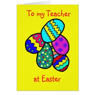 Para o professor cartão comemorativo