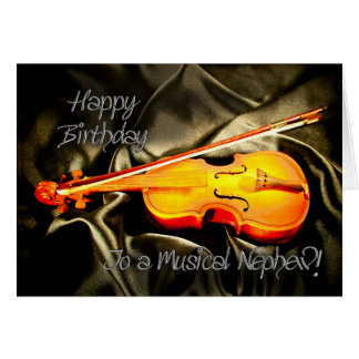 Para o sobrinho, um cartão de aniversário musical