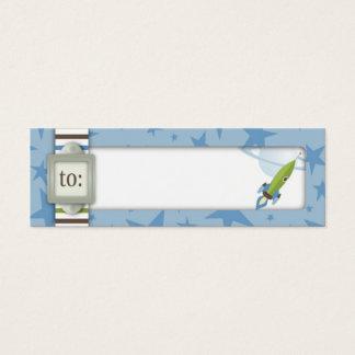 Para o Tag magro do presente do bebé Cartão De Visitas Mini