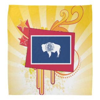 Para presentes: Mapa da bandeira de Wyoming Panos Para Cabeça
